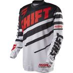 MX Black/White Assault Race Jersey  - 10953-018-L