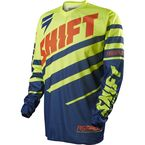 MX Youth Navy/Yellow Assault Race Jersey - 11781-046-L