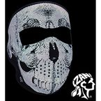 Black Neoprene Reflective Skull Full Mask - WNFM002R