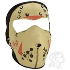 Tan Neoprene Jason Glow w/Spikes Full Mask - WNFM213GSP