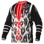 Black/White/Red GP Air Cheetah Jersey - 0725-3108