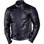 Black Clash Leather Jacket - 0801-0210-0053