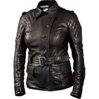 Womens Black Oxford Leather Jacket - 0801-1212-0054