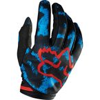Womens Blue/Red Dirtpaw Gloves - 12018-149-M