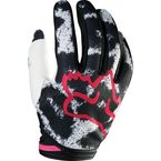 Womens Black/Pink Dirtpaw Gloves - 12018-285-S
