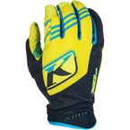 Hi Vis Green/Black/Blue XC Gloves - 5002-000-160-300