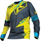 Hi Vis Green/Black/Blue XC Jersey - 5003-000-140-300