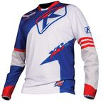 White/Blue/Red XC Jersey - 5003-000-140-200