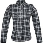 Womens Black/Gray Smokin Aces Reinforoced Moto Shirt - 87-8461