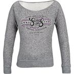 Womens Black Heather Smokin Aces Fleece - 87-8696