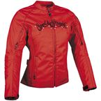 Womens Red To The Nines Textile Jacket - 87-8219