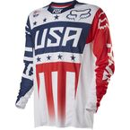 Red/White/Blue Patriot Mxon 360 LE Jersey - 14185-051-L