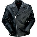 Black 9mm Leather Jacket - 2810-2789