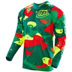 Green/Fluorescent Yellow/Red Cosmic Camo SE Air Jersey - 302012856