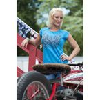 Womens Turquoise Garden Party T-Shirt - 1099M