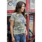 Womens Lite Olive Aviator T-Shirt - 2187M