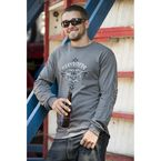 Gray Assaulted Long Sleeve T-Shirt - 5136L