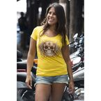 Womens Yellow Rise and Shirt T-Shirt - 2196L
