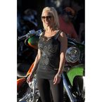 Womens Black Over The Top Bling Tank - 1209L