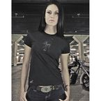 Womens Black Fury T-Shirt - 54-7119
