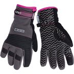 Womens Charcoal/Pink Versa Style Gloves  - 462-0112L