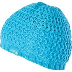 Womens Blue Knit Beanie  - 12834