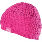 Womens Pink Knit Beanie  - 462-0530
