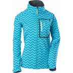 Womens Chevron Aqua/Blue Softshell Jacket - 97106