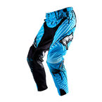 Black/Cyan Mayhem Oozey Pants - 0137
