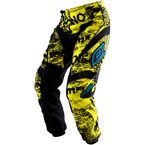 Youth Toxic Black/Yellow Element Pants