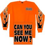 Orange Bikers Against Dumb Drivers Long Sleeve T-Shirt - GMD2201XL