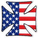 Iron Cross American Flag Patch - PPA7460