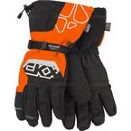 Black/Orange Throttle Series Snowmobile Gloves  - 600684