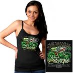 Womens Black Skeleton Cycle Tank - SPL2298-L
