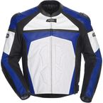 Blue/White/Black Adrenaline Leather Jacket - 8971-0102-06