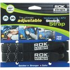 Black/Reflective Heavy-Duty Stretch Straps - 2014-003