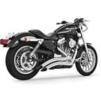 Chrome Sharp Curve Radius Exhaust System - HD00254