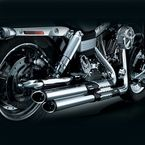 Chrome/Black Crusher Power Cell Staggered Dual Exhaust System - 534