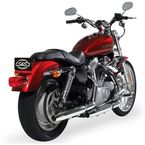 Chrome Tapered Slip-On Performance Mufflers  - 550-0376