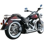 2 1/4 in. Chrome Short Series Straight Cut Exhaust System w/1.5 in. Baffle - 5021ST-150