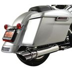 Chrome 4 in. Rotatable Slash Slip-On Mufflers - LA-1094-03