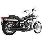 Black Patriot Slash Down Long Exhaust System - HD00045