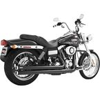 Black Independence Long Exhaust System - HD00044