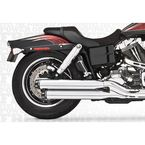 Chrome Signature Series Slip-On Mufflers with Black Tips - HD00190