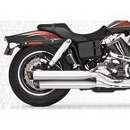 Chrome Racing Slip-On Mufflers with Black Tips - HD00314