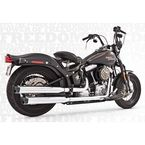 Chrome Racing Slip-On Mufflers with Black Tips - HD00315