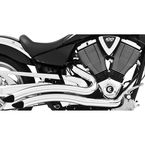Chrome Sharp Curve Radius Exhaust System - MV00011