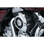 Chrome/Black Quantum Air Cleaner Cover - 8417