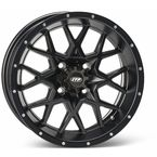 Matte Black Front Or Rear 12 X 7 Hurricane Wheel - 1228627536B