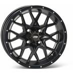 Matte Black Front Or Rear 12 X 7 Hurricane Wheel - 1228629536B